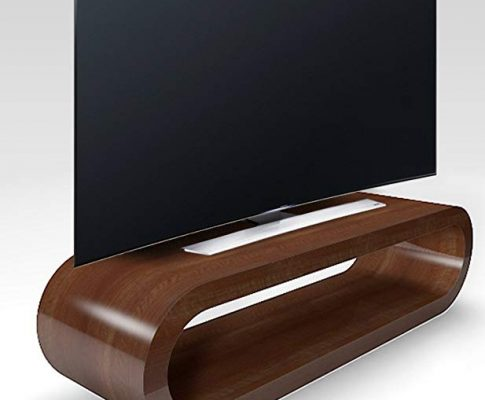 Zespoke Retro Style Hoop Large Tv Stand / Cabinet 110cm Wide (Walnut Gloss) Review