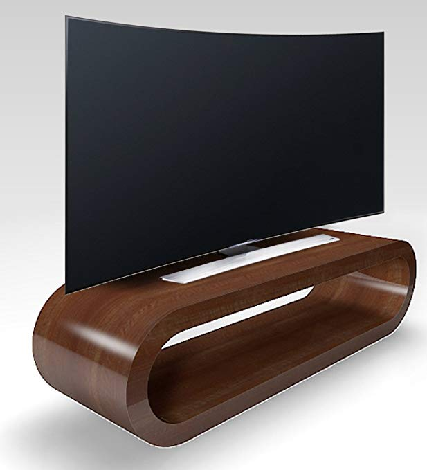 Zespoke Retro Style Hoop Large Tv Stand / Cabinet 110cm Wide (Walnut Gloss)