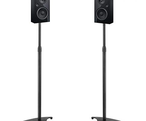 PERLESMITH Adjustable Height Speaker Stands-Extends 30″ to 45″- Hold Satellite & Bookshelf Speakers Weight up to 8lbs-Heavy Duty Floor Stands for Surround Sound-1 Pair (Model: PSSS1) Review