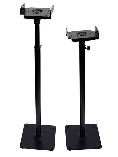 VideoSecu Floor Speaker Stand One pair for Satellite Surround Sound Speakers MS07B2 1B5