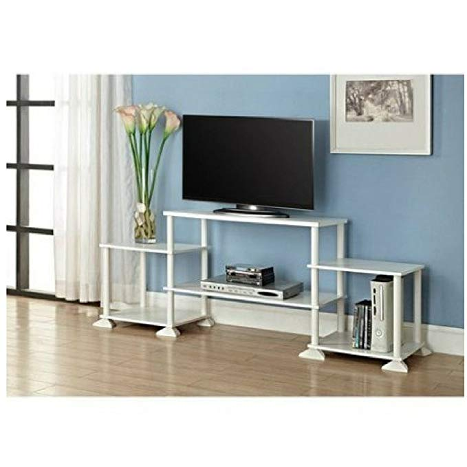 Multiple Shelves Mainstays No Tools 3-Cube Storage Entertainment Center for TVs up to 40