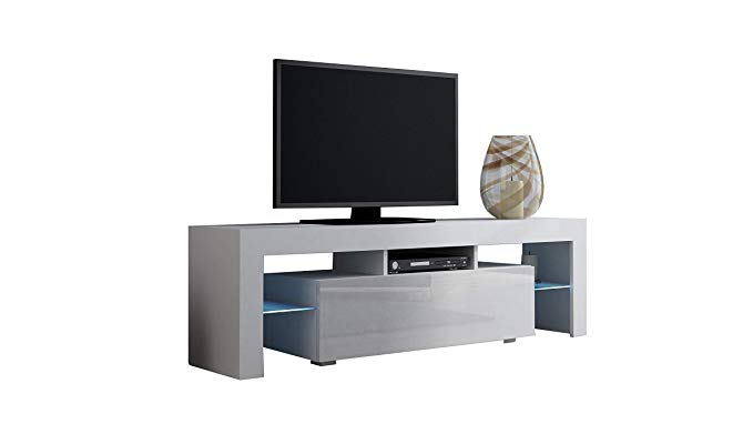 Concept Muebles TV Stand Milano 130 / Modern LED TV Cabinet/Living Room Furniture/Tv Console fit for up to 55