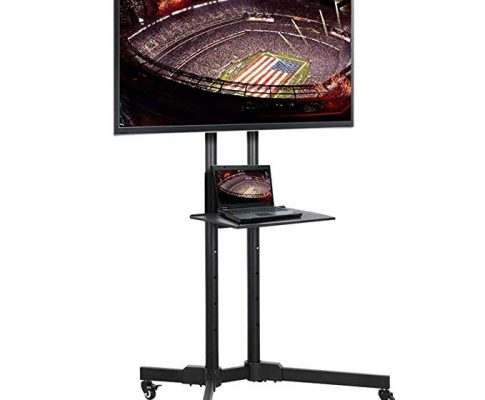 Yaheetech 32 to 65 Inch Mobile TV Cart Universal Flat Screen Rolling TV Stand Trolley Console Stand with Mount for LED LCD Plasma Flat Panels on Wheels Review
