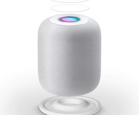 LANMU Anti-Slip Pad for HomePod,Silicone Shockproof Coaster Stand for HomePod with Screen Protector (White) Review