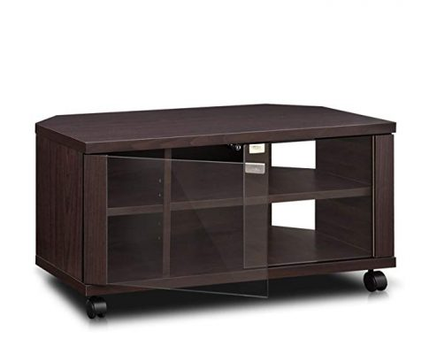 Furinno Indo FL-800EX TV Stand with Double Glass Doors and Casters, 2 x 2″, Espresso Review