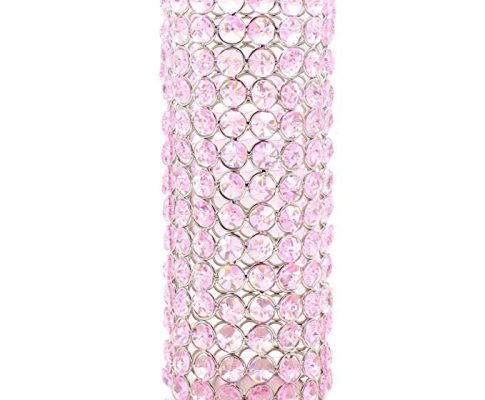 Chandelier Speaker Stand with Crystals – Light Pink Review