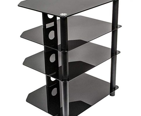 NavePoint Media Stand Glass 4 Shelf Audio Video Component Storage Tower Review