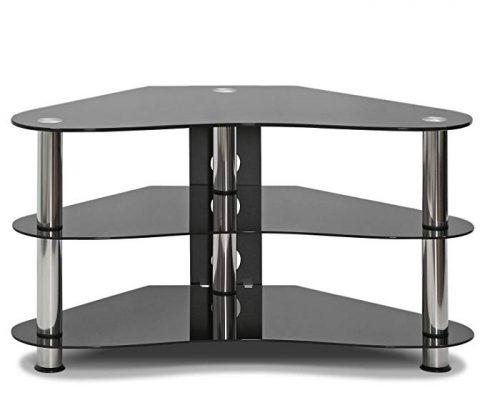 Furinno FRL16M4BK Silk Screen Glass Corner TV Stand Review