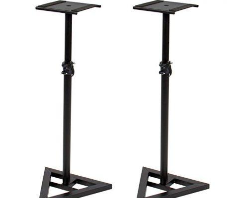 Height Adjustable Studio Monitor Speaker Stand Pair Home Studio Concert Band DJ Review