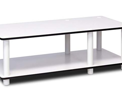 Furinno 11174WH(EX)/WH Just No Tools Mid TV Stand, White w/White Tube Review
