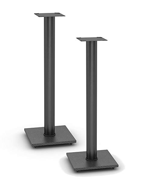 Atlantic 77335799 Speaker Stands for Bookshelf Speakers up to 20 lbs - Pair (Black)