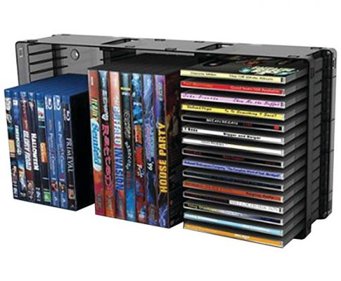 Atlantic 36635731 Domino Disc Storage Module 45 CD/21 DVD, Black Review