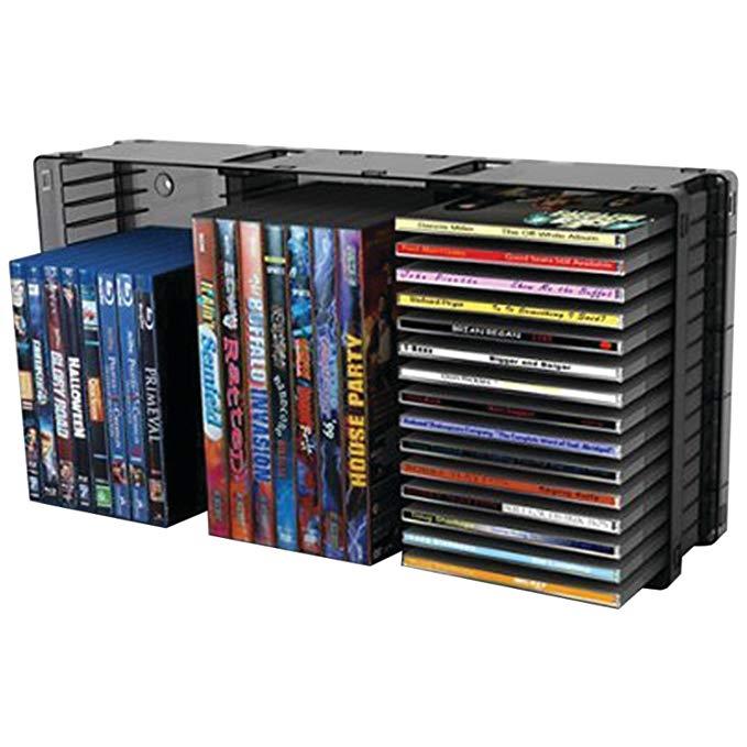 Atlantic 36635731 Domino Disc Storage Module 45 CD/21 DVD, Black