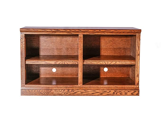 Forest Designs Mission TV Cart (No Doors): 72W X 24H X 18D Unfinished Oak