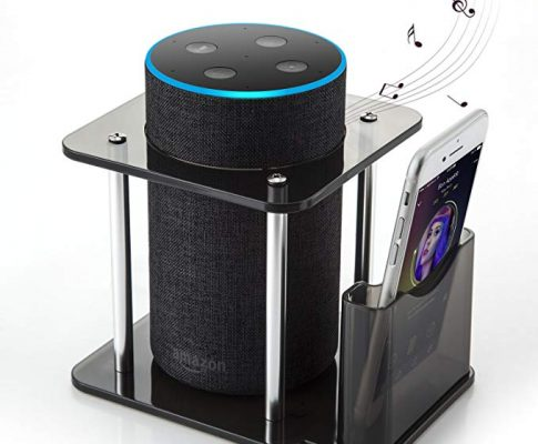 [#1 Deal] Speaker Stand for Amazon Echo 1st, Echo Plus, UE Megaboom, Echo 2nd Generation, Amazon Echo Stand with Remote Holder, Black, Enhanced, Protect and Stabilize Alexa Review