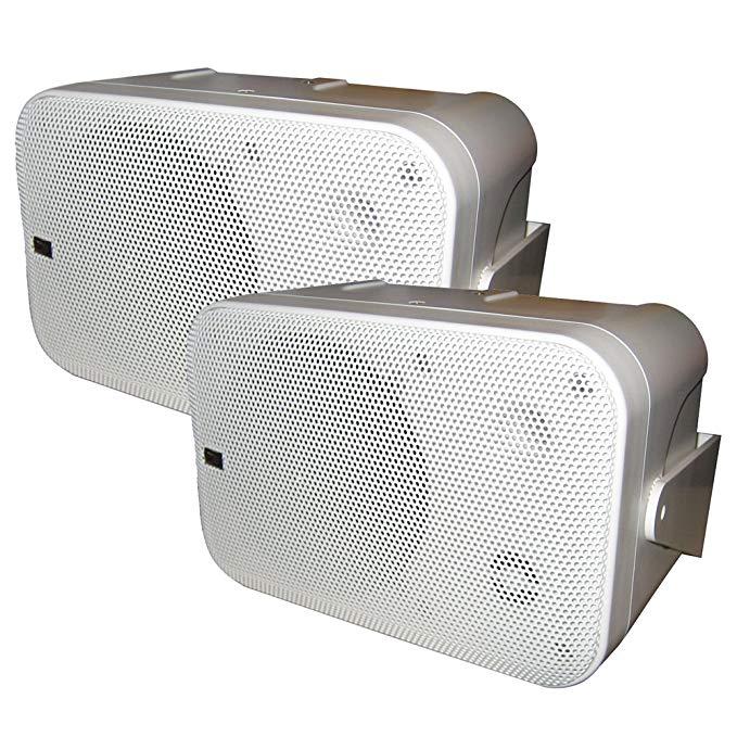 Poly-Planar B0 X 200W White Waterproof Full Size Box Speakers Pair