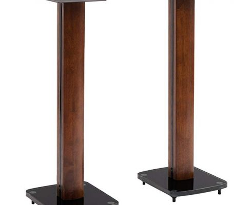 TransDeco Fixed Height Glass and Steel Speaker Stands, 30-Inch Review
