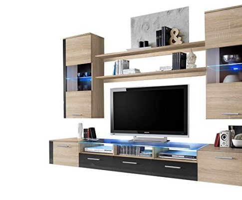Concept Muebles Fresh Modern Wall Unit/Entertainment Centre/Spacious and Elegant Furniture/Tv Cabinets/Tv Stand for Modern Living Room/High Capacity Living Room Furniture (Baltimore) Review