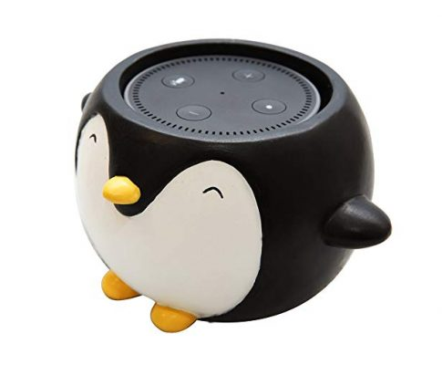 Penguin Holder Stand Mount Compatible with Alexa Echo Dot, Bose, Anker, Home Mini Round Speakers Accessories (Penguin Theme) Review