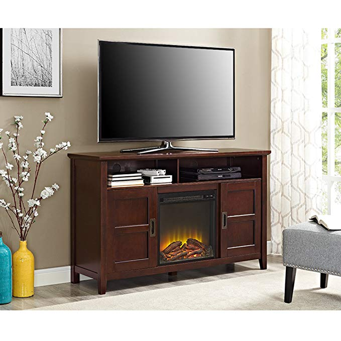 WE Furniture Traditional Fireplace TV Stand for TV's up to 55