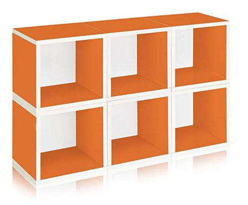 Way Basics Eco Stackable Modular Storage Cubes (Set of 6), Orange (made from sustainable non-toxic zBoard paperboard) Review