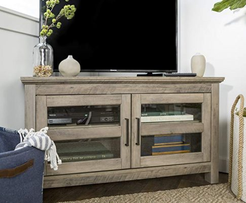 New 44 Inch Corner Television Stand – Grey Wash Color Review